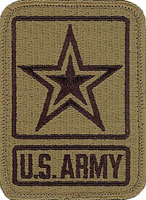 Usa army star logo ocp multicam shoulder patch with velcro for Military patch template