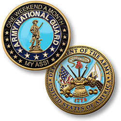 One weekend a month army reserve coin for Army emergency reserve decoration